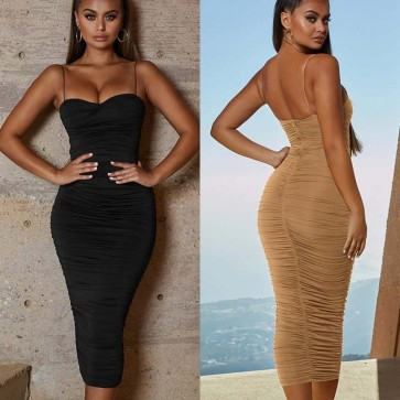 Bodycon Cocktail Evening Party Ladies Midi Dress
