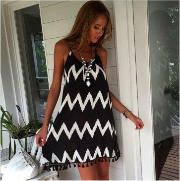 Sexy Plus Size Women Mini Dresses Casual Beach Wear