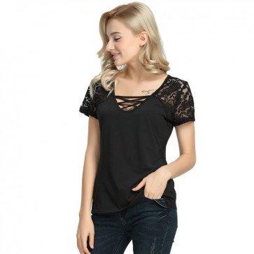 Fashion Women Loose Pullover T-Shirt Short Sleeve Tops