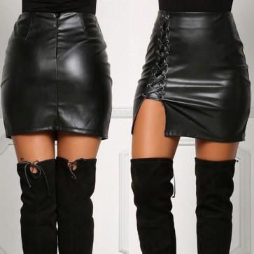Bandage High Waist Pencil Bodycon Short Mini Skirt