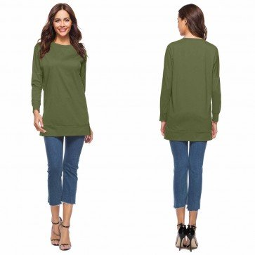 Casual O-Neck Long Sleeve Patchwork Slim T-Shirt Tops