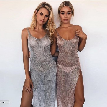 Sexy Crochet Bikini Swimwear Cover Up Beach Dress