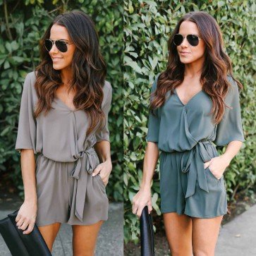 Women Fashion Sexy Jumpsuit 1 Color 5 Yards