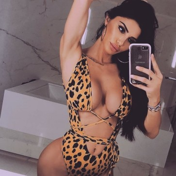 Leopard Print Swimsuit with Tie Detail