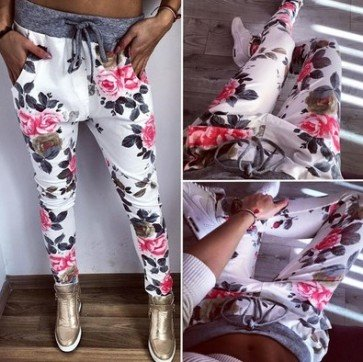Sweatpants Womens Harem Pants Capris Casual Trousers