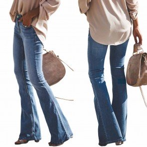 Low Waist Skinny Bell Bottom Trouser Women Flared Jeans