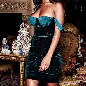 Eleanora green velvet bustier dress