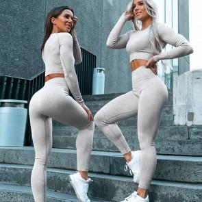Pure Color Slim Yoga Sports Pants Set