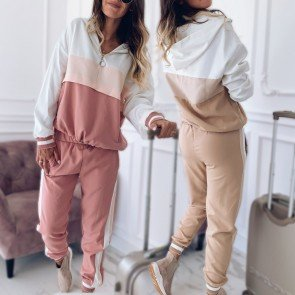Two piece set top and pants clothes for women tracksuit