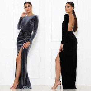 Bodycon Elegant Backless Party Split Long Maxi Dress