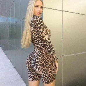 Leopard Print Sexy Jumpsuits