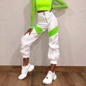 Neon Reflective Harem Pants