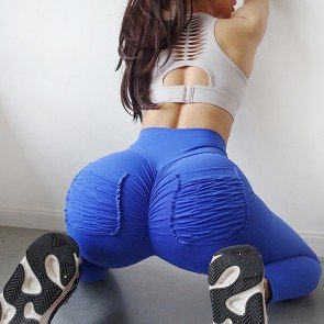 Solid empire elasticity leggings