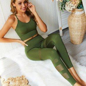 Yoga Sets Tracksuit Sport Suit Fitness Workout Leggings