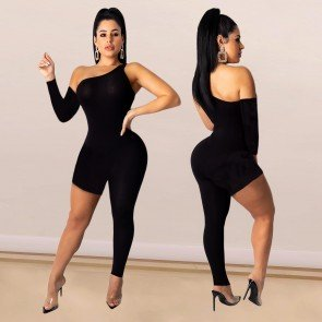 Playsuit Bodysuit V Neck Single Sleeve Rompers Jumpsuit