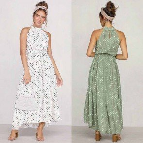 I'M CHARMED POLKA DOT MAXI DRESS