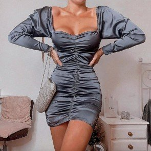 Zane Ruched Satin Dress