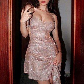 Strappy Open Back Sparkle Mini Dress