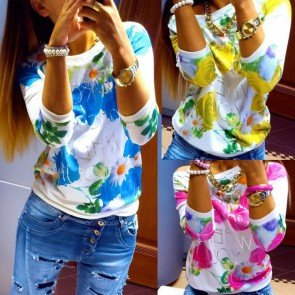 Long Sleeve Tee T-Shirt Casual Round Neck Casual Tops