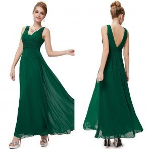 Long Evening Bridesmaid Dress Maxi Wedding Ball Gowns