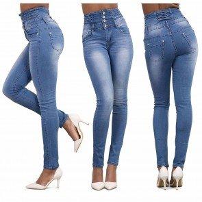 Skinny Jeans Ladies Casual Denim High Waist Pants