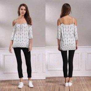 Off Shoulder Jumper Pullover T-shirt Tops Blouse