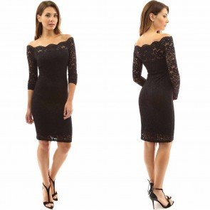 Mini Dress Sexy Lace Slim Fitted Night Bar Club Catsuit