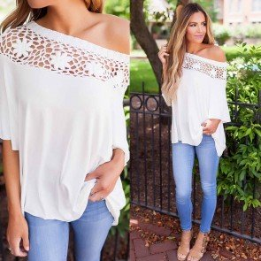 Loose Short Sleeve Casual Solid T Shirt Tee Blouse Tops