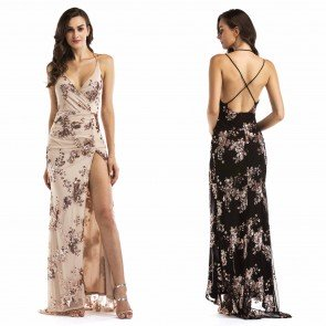 Charming Gorgeous Sleeveless Embroidery Long Prom Dress