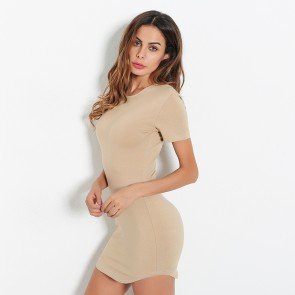 Sexy Nightclub Tight Short-sleeved Dress Miniskirt