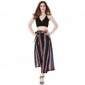 High Waist Flared Wide Leg Long Pants Palazzo Trousers