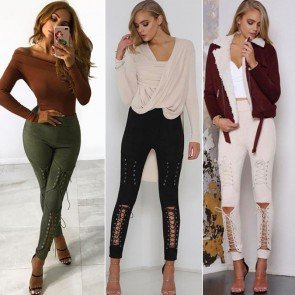 High Waist Slim Skinny Leggings Stretchy Pencil Pants