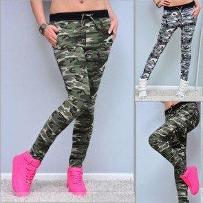 Women camouflage pants high waist slim sexy trousers
