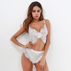 Eyelash Lingerie Set Lace Underwear Sleepwear Nightwear