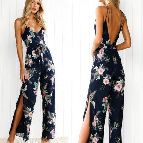 Spaghetti Strap Rompers Bodysuit Sleeveless Jumpsuits