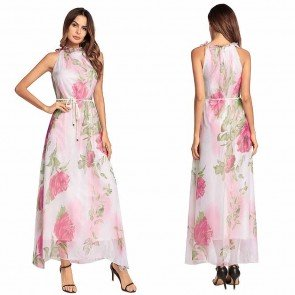 Maxi Party Women Summer Boho Long Beach Chiffon Dress