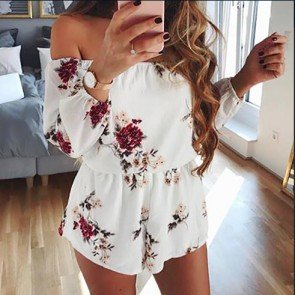 Summer Beach Jumpsuit Bodycon Playsuit Romper Shorts
