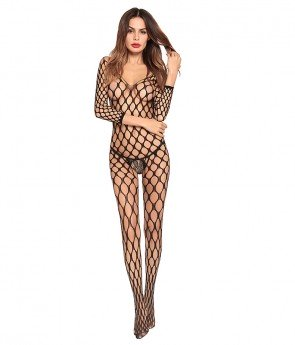 Lingerie Much-loved Open Crotch Mesh Body Stockings