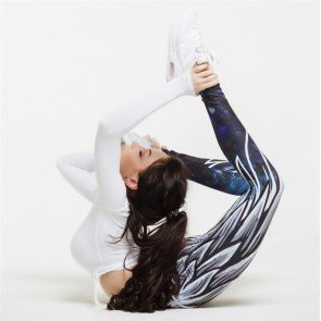Yoga Leggings Printed Wings Slim Fitness Elastic Pants