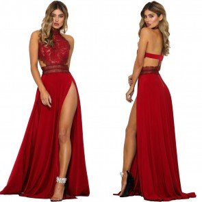 Backless Mermaid Prom Cocktail Ball Gown Evening Dress