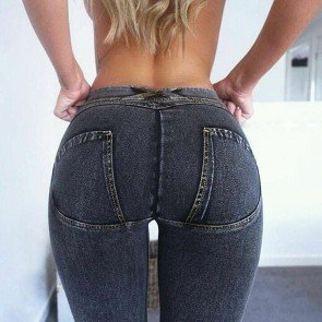 Low Waisted Skinny Push Up Jeans