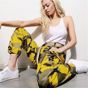 Camouflage Sports Cargo Pants Outdoor Casual Trousers