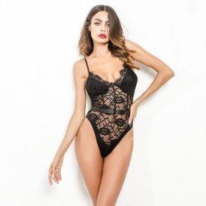 Sexy Eyelash Lace Bodysuit Naughty Teddy Lingerie