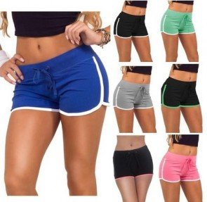 Drawstring Stretch Cotton Sports Workout Running Shorts