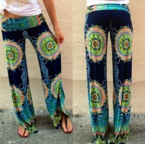 Casual Wide Leg Long Pants High Waist Palazzo Trousers