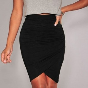 Cross Hem Slim Party Womens Short Skirt Wrap Skirt Jupe