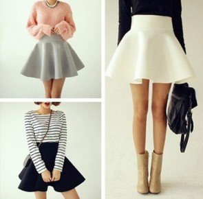 Fashion Casual Skirts Empire Waist Solid Short Skirt