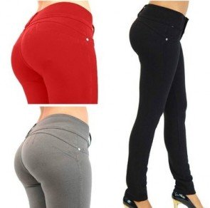 Womens Slim High Waist Pant Casual Elastic Pants