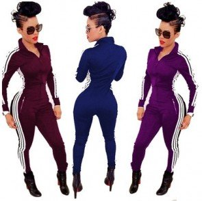 Sport Wear Tracksuit Jumpsuit Romper Bodycon Playsuit