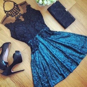 Splicing Lace Party Clubbing Mini Dress Sexy Chic Dress
